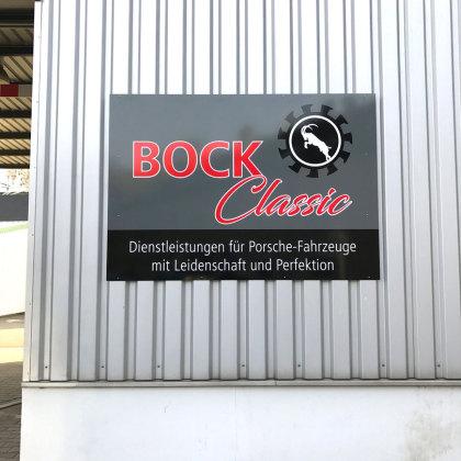 Außenbeschriftung Bock Classic